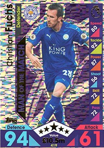 2016-17-match-attax-man-of-the-match-cards-419-christian-fuchs-leicester-city