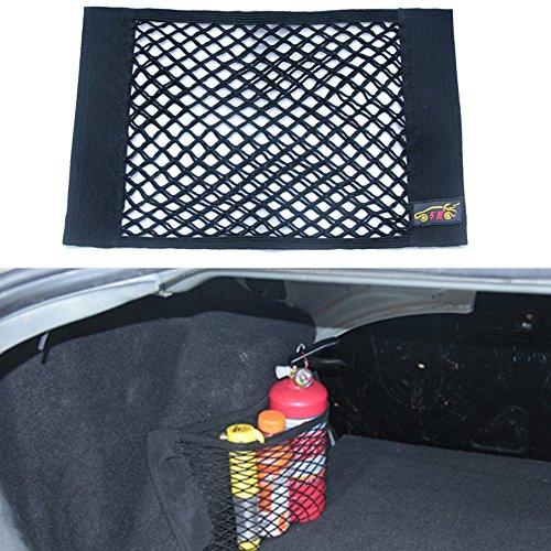Tuqiang® ZGY Auto Rücksitz Organizer Netz Tasche mit Klebeband für Autositz Aufbewahrung Ablage PKW KFZ 40 x 25cm