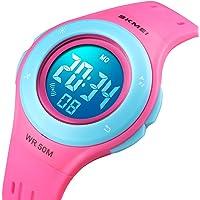 Orologi per Bambini Orologio da Ragazza per Ragazzi Età 7-12 Sport Impermeabile Sport Moda Digitale 7 Luci a Colori…