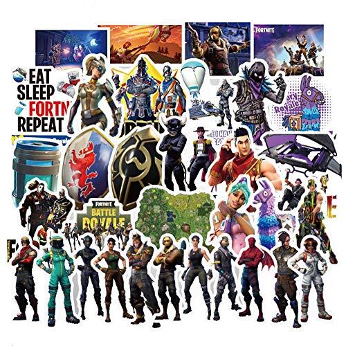 Preisvergleich Produktbild Sanmatic Die Original Fortnite Aufkleber 100 pcs Varietät für Fortnite Gamers Aufkleber für Kinder und Erwachsene