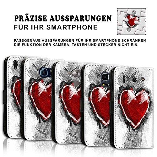 Wallet Book Style Flip Handy Tasche Case Schutz Hülle Schale Motiv Etui für Apple iPhone 5 / 5S - Variante UMV35 Design9 Design 4