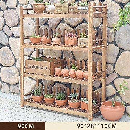 b7ea88c5cfaf ZHANGRONG- Natural Wood Flower Racks multi-couche rack Plancher en bois  Fleur Shelf Balcon