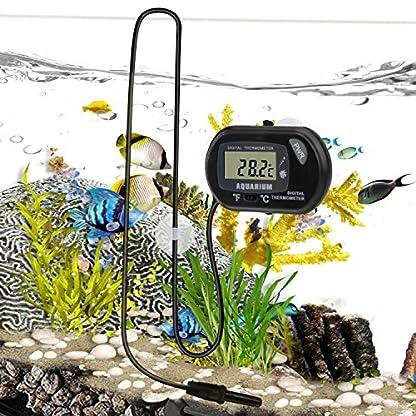 bedee Fish Tank Thermometer Aquarium Thermometer Water Thermometer Submersible Waterproof Digital LCD Aquarium… 5