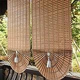 Tende a rullo Tenda A Onde di bambù in tonalità Romane con Tiretto Laterale in Legno, Filtro for Filtraggio della Luce Schermata di Privacy for Giardino di Casa, Multi-Dimensione (Size : 120x160cm)