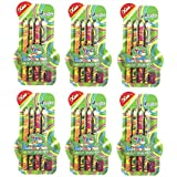 Parteet Birthday Party Return Gifts - Pack Of 6 Rainbow Swirl Pencils With Sharpener For Kids