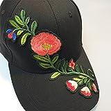 Brolux(TM) 1 PC Flower Baseball Cap Women Floral Snapback Hats For Female Hip Hop China Style Sun Visor Cap Sunhat Femmes 2017 New Summer [Black ]