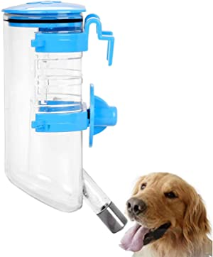 AQUAPETZWORLD 350ML Dog Crate Water Bottle Hanging Pet Puppy Water Bottle Cat Water Drinking Fountains for Cage Portable Dog Water Dispenser with Automatically Feeding Water Pet Supplies