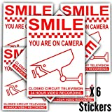 Best Dummy Cameras - 6 x Smile You Are On Camera-Red on Review