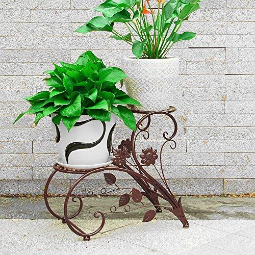 YAN JUN-Blumentreppen Europäisch gestaltete Blumenständer im Innenraum Balkon Garten mehrstöckige Blumentopfgestell (Farbe : Bronze) -