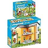 Playmobil City Life Set en 2 parties 9266 9272 Villa moderna + Festa in giardino...