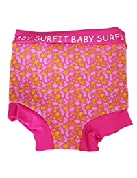 Surfit Girls' Surfitgirls' Beach Nappi-Wrap Pink Pattern, 0/6 Months