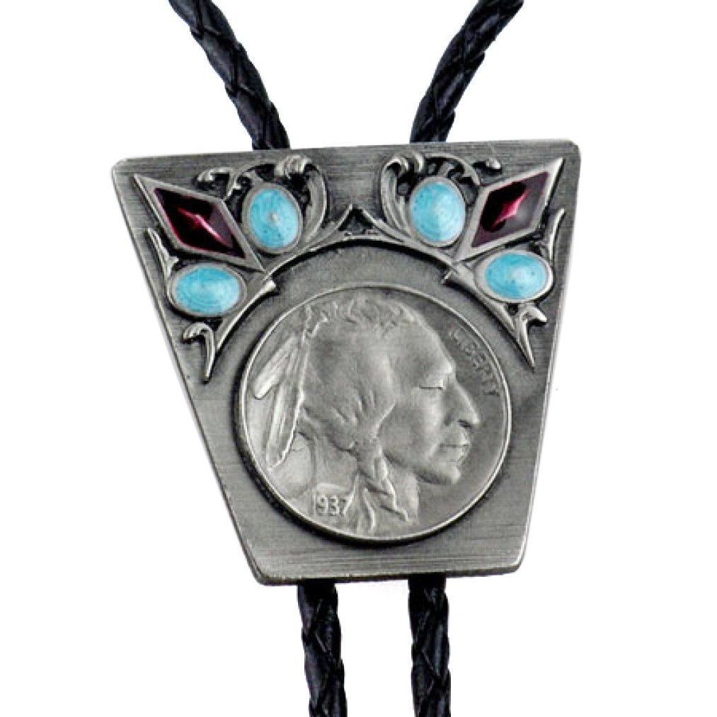 Bolotie, Indian Chief, 5 moneta da un centesimo dal 1937, Bolo Tie