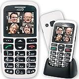 Mobiho-Essentiel le CLASSIC INITIAL BLANC - Téléphone complet senior. Le seul appareil réunissant toutes les solutions : audition, vision, handicap préhension, dextérité, fausses manipulations. DEBLOQUE TOUT OPERATEUR