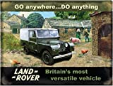 Posters.de Original Metals Signs-Walsh Land Rover-15x 20cm