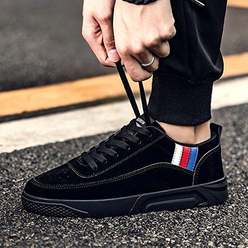 FEIFEI Scarpe da uomo Primavera e autunno Fashion Personality Movement Leisure Plate Shoes 3 Colors ( Colore : Bianca , dimensioni : EU39/UK6/CN39 ) Nero