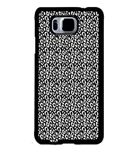 Fuson Premium Cheetah Pattern Metal Printed with Hard Plastic Back Case Cover for Samsung Galaxy Alpha