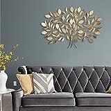 Global Glory Art Metal Rectangular Leaf Mosaic Wall Tree, Large (Bronze, GG111701)