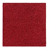 Teppichfliesen Intrigo 50x50cm selbstliegend Velours rot