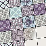 creatisto Carrelage Mural adhésif - PVC Autocollant Sticker pour Carreaux muraux I Décoration pour Cuisine et Salle de Bain - Repositionable (20x20 cm I 54 - Pièces)