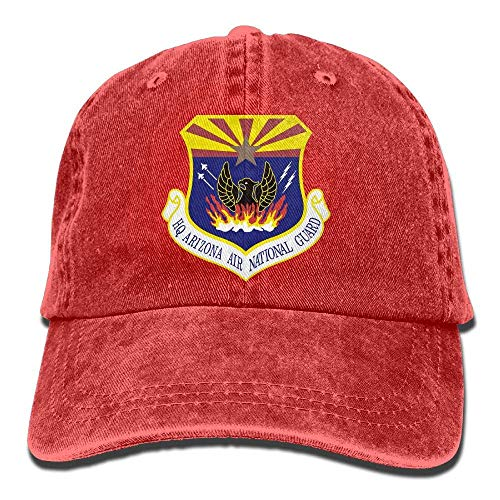 Hoswee Baseballmütze Hüte Kappe Arizona Air National Guard Unisex Truck Baseball Cap Adjustable Hat Military Caps National Guard Hat