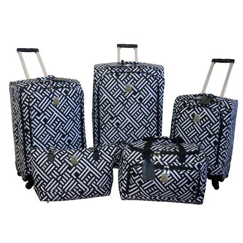 jenni-chan-signature-5-piece-luggage-set-black-white-one-size