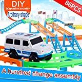 Riklos 1 Set Kids Assembling Toy Double Layers Elettrico Urban Track Car ...