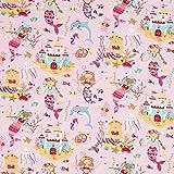 Fabulous Fabrics Baumwolljersey Meerjungfrau – rosé — Meterware ab 0,5m — Oeko-Tex Standard 100 — zum Nähen von Kinderbekleidung und Babybekleidung