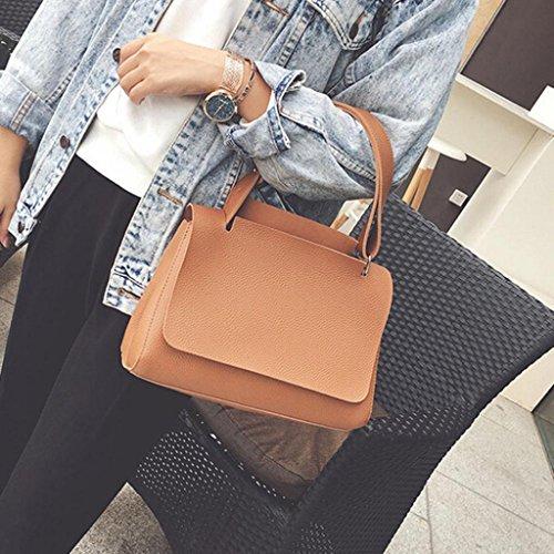 BZLine® Frauen Handtasche Cross Body einzelne große Umhängetasche, 30cm *21cm *10cm Braun