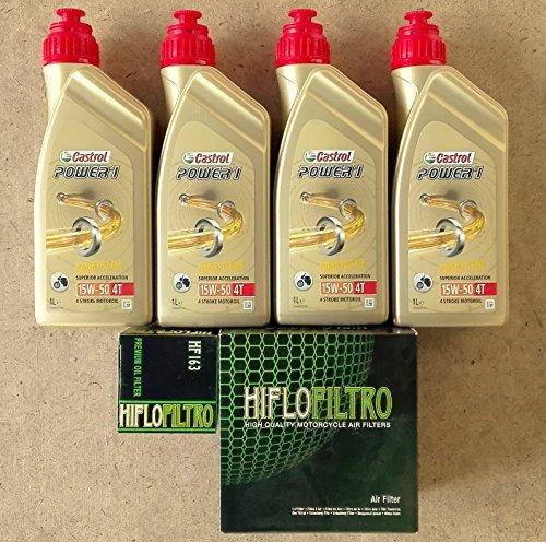 Kit tagliando 4 litri castrol 15w50 4t power 1...