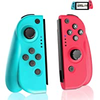 GEEMEE Wireless Joy-Con Controller (L/R) for Nintendo Switch, Replacement Joystick for Joy Con Bluetooth Gamepad Joypad Joystick Compatible with Nintendo Switch Pro