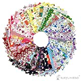 raylinedo® 15 x anderen Muster Patchwork 100% Baumwolle Popeline Stoff Bundle Squares von 20 * 25 cm Quilting Scrapbooking Artcraft Project Collection One, Random 50 Pattern, 10*10cm X 50pcs