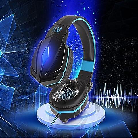 A menudo cada G4000auriculares 3.5mm Stereo Gaming Headset de cinta conector USB Profesional Juego de auriculares Bass Noise Canceling con micrófono y luz LED para PC