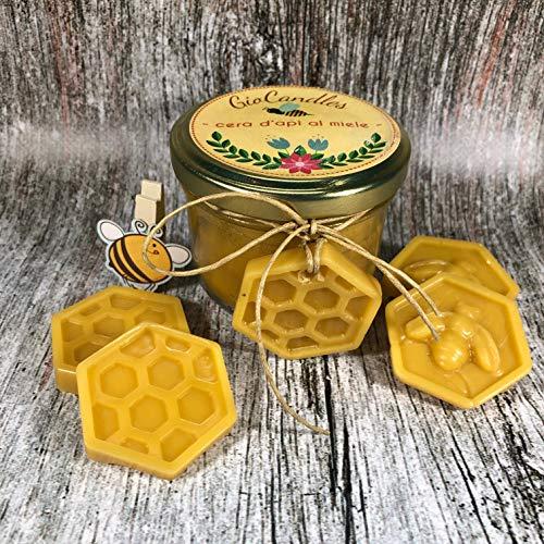 Kerze aus reinem Bienenwachs, mit Honig duftend, mit Parfümeuren - Reinen Soja Kerze