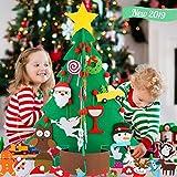 Fieltro Árbol de Navidad, Árbol de Navidad artificial 3D Fieltro DIY Árbol de Navidad de fieltro para niños