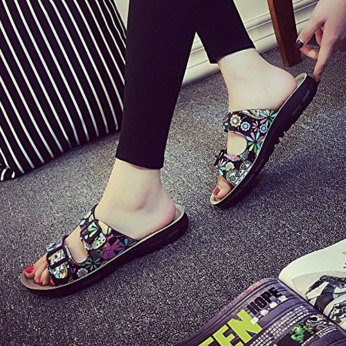 Sandales Chaussures Unisexe Adulte - Mules Sandales Femme Chaussures - Chaussures en Liège Sandales Pour Homme Noir 1