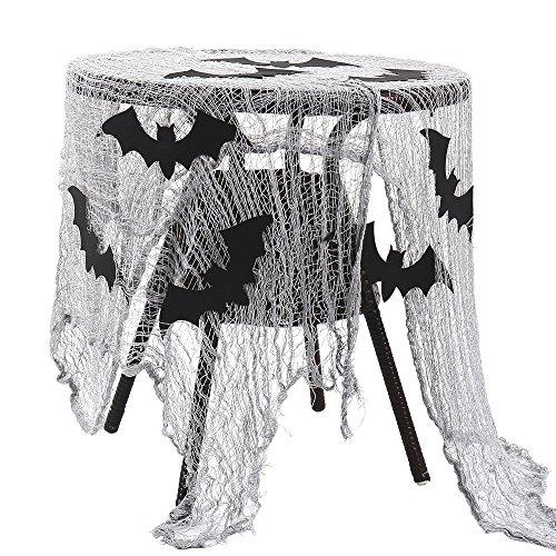 Enjoygoeu Halloween Fledermaus Lumpengewebe Gruselig Deko Tuch Tischdeko Halloween Party Dekostoff Gruseldeko Prop Horror (1 Stück)