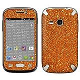 atFolix Samsung Galaxy Young (GT-S6310) Skin FX-Glitter-Orange-Juice Designfolie Sticker - Reflektierende Glitzerfolie