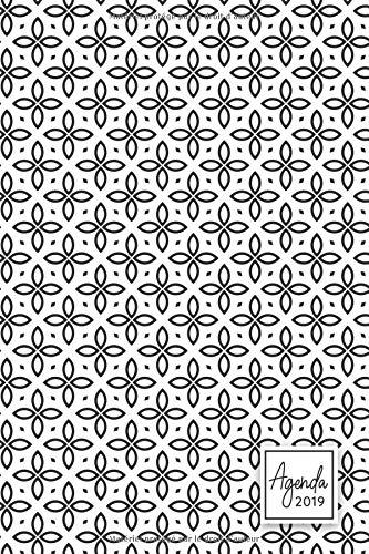 Agenda 2019: Agenda 2019, Janvier à Décembre, semainier simple, chic & graphique, motif géométrique blanc & noir par YesOuiPages