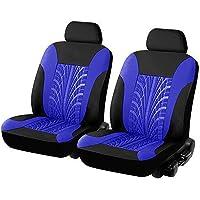 Sitzbezug Set Sitzbezug Sitzbez/üge Schonbez/üge Schonbezug mit Seitenairbag Schwarz Akhan SB612 Blau