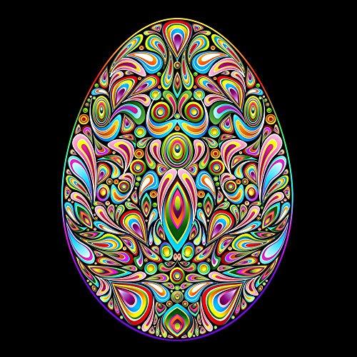 Pitaara Box PB Easter Egg Psychedelic Art Design Peel & Stick Vinyl Wall Sticker 20 x 20inch