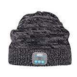 August EPA30 - Bluetooth Mütze - Winter Strickmütze mit Bluetooth Stereo Kopfhörer, Mikrofon, Freisprechen und integriertem Akku - Kompatibel mit Smartphones, Handys, Tablets, iPhone, iPad, Laptops (Kobalt)