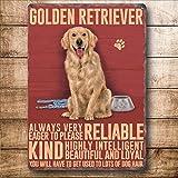 Golden Retriever Metal Sign 150 x 200 mm