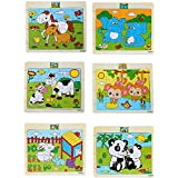 Pepperonz Wooden Animal 20 Pieces Jigsaw Puzzles For Kids (Set Of 6 & Design May Vary)