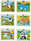 #3: Pepperonz Wooden Animal 20 pieces Jigsaw Puzzles For Kids (Set Of 6 & Design May Vary)