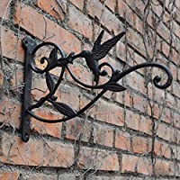CAISHENY Hook Cast Iron Plant Hanging Bracket Hook Iron Decorative Wall Mount Plant Hangers Bracket For Hanging Bird Feeders Lanterns