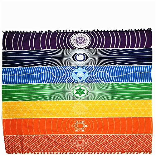 BBQBQ Sommer Quadrat Schal Decke Regenbogen Strandtuch Bunte Serie Schal Wickelrock Handtuch Handtuch Material 150 * 75cm (Nba-dvd-set)