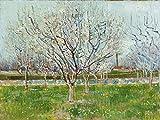 Artland Qualitätsbilder I Poster Kunstdruck Bilder 80 x 60 cm Bäume Obstbaum Malerei Blau A2BS Blühender Obstgarten 1888