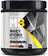 MuscleBlaze Whey Hydro Whey Protein Isolate- Chocolate (0.5 kg)