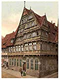 Photo Old house Hildesheim Hanover A4 10x8 Poster Print