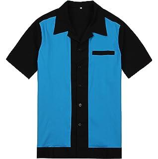d5413c79ebc Candow Look punk metal men shirt retro plus size blue club casual shirts